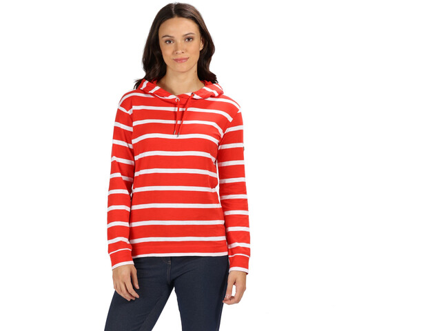 Regatta Magdelina Bluza Kobiety, fiery red stripe/white